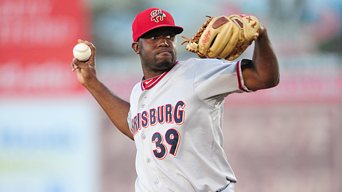 Shairon Martis ranks fourth in the Eastern League with 143 strikeouts.
